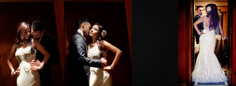 creative Wedding Photography of bride and groom