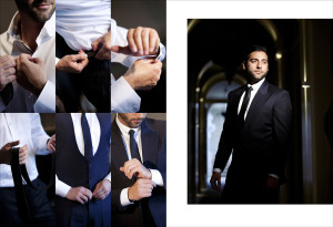 Weddings From a Photographers Perspectie - An Album Page of Groom Getting Ready