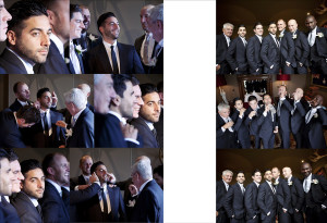 An album page of Groom and Ushers