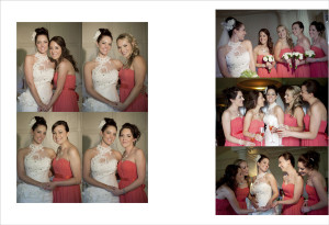 Weddings from a Photographers Perspective  - An album Page of Bride and Brid