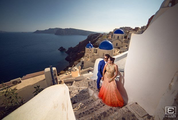Santorini Pre Wedding Shoot with Arti & Nick